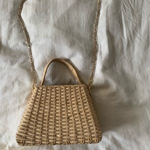 ZARA Straw Shoulder Bag